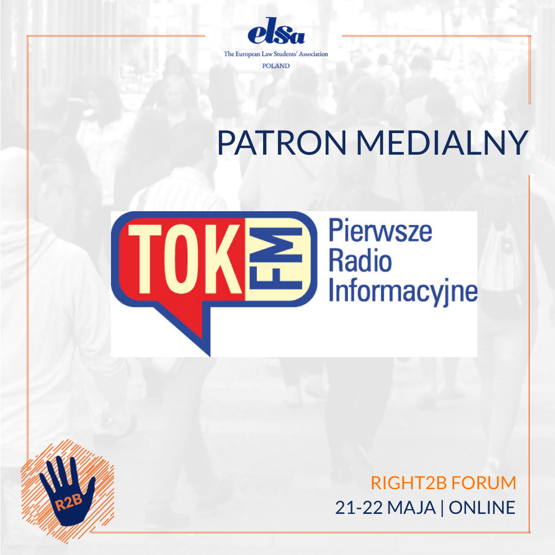 Patron medialny – TOK FM – Right2B Forum