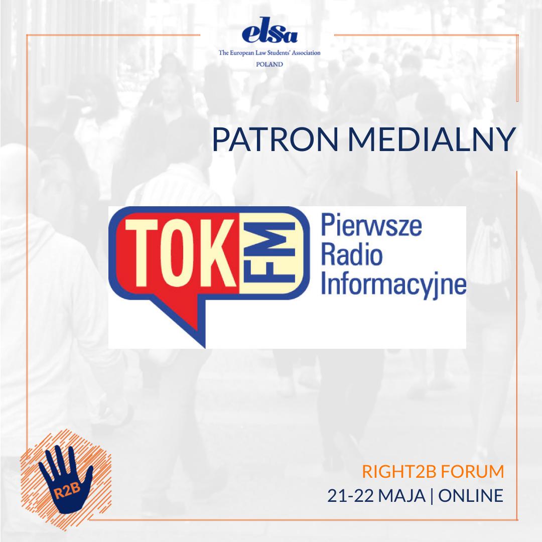 Patron medialny – TOK FM – Right2B Forum